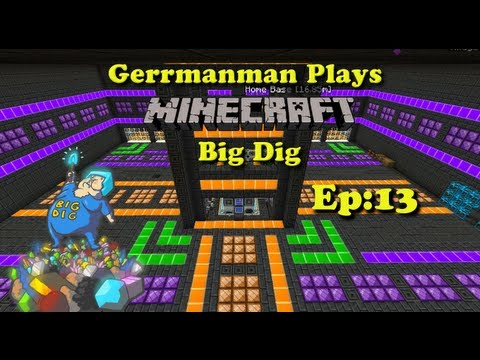 Minecraft Big Dig Ep:13 New Base Designe and Q's Answered