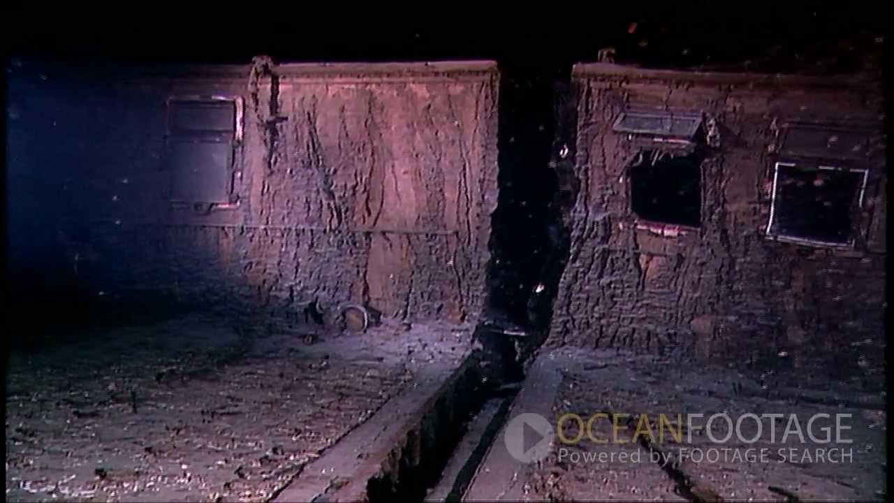 Ocean Footage: Behind the Scenes, Titanic Wreck Underwater ...