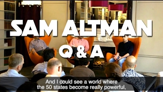 Sam Altman Live Q&A : Open AI, Future Technology, Basic Income
