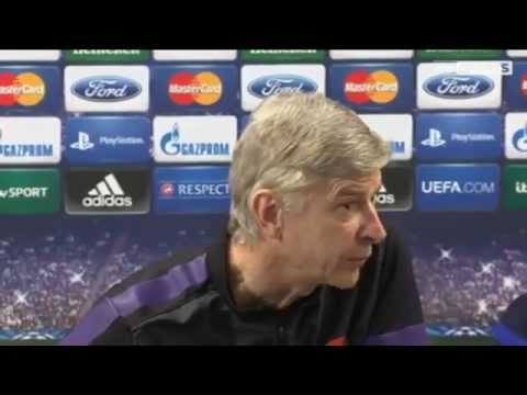 Angry Wenger hits out at pre-Bayern press conference