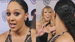 Tamera Mowry fangirls over Mariah Carey! Awww