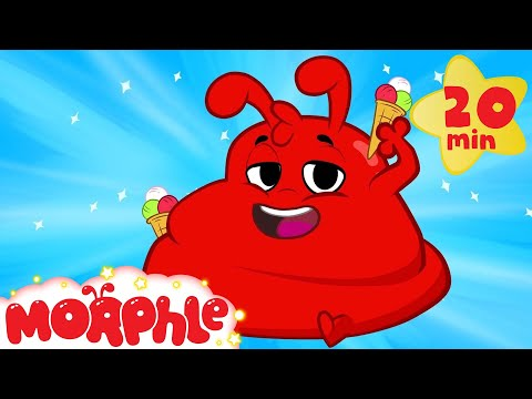 Morphle ate too much ice cream!  Funny superhero animation for kids