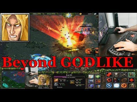 DOTA 1 - Invoker With KEYBOARD CAMERA | BEYOND GODLIKE