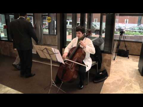 Classical music flash mob at Yawkey Center | Dana-Farber Cancer Institute
