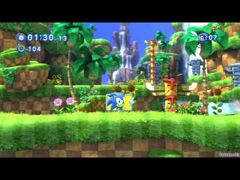 Sonic Generations PS3 - [Part 1 ~ Introduction / Green Hill Zone ~ Act 01 / Act 02]