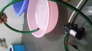 Test máy bơm tăng áp mini 12V - 70W lưu lượng 6L/phút