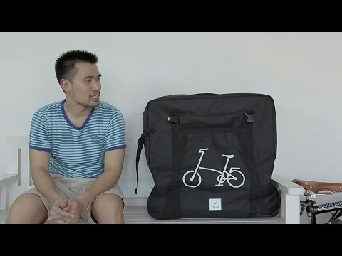 Packing Brompton bike for air-travel with B132B soft transport bag