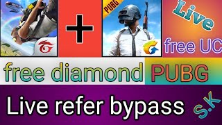 🤑pubg free UC// free diamond unlimited refer bypass OTP bypass