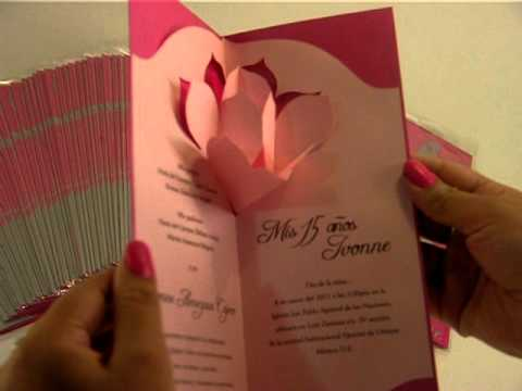 Invitacion para Quince Años Pop-Up - YouTube