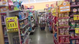 Shopping Inside a Family Dollar