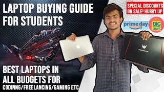 Laptop buying guide for students | Best laptops in all budgets | For Programming | Freelancing etc.