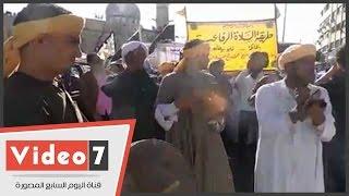 انطلاق موكب الطرق الصوفية من أمام مسجد السيدة للاحتفال بمولد الرفاعى
