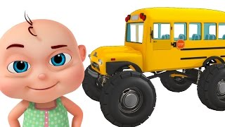 Monster School Bus Assembly | Construction Vehicles For Kids | Videos For Toddlers