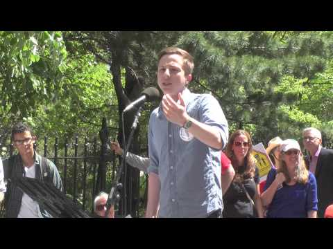 Jacob Chaffin @ Taking Back Our Schools Rally & March, New York, NY - 17 May 2014