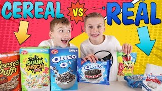 Cereal Vs Real Challenge