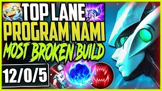 TOP LANE PROGRAM NAMI  ONE SHOTS EASY MOST BROKEN
