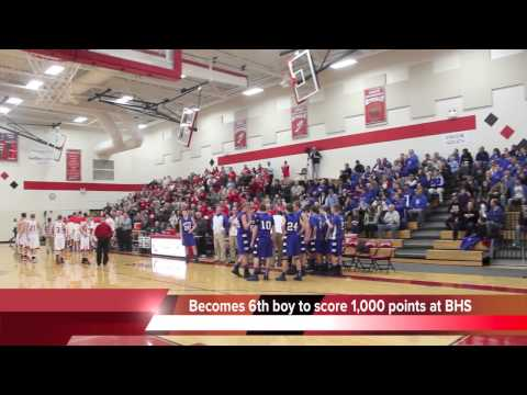 Brillion High School's Eric Kittel scores 1,000th career point