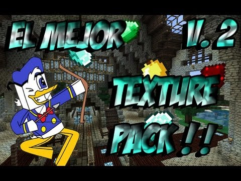 El Mejor Pack De Texturas Minecraft 1.6.4/1.7.2 - Review + Instalacion Y Descarga - V.2