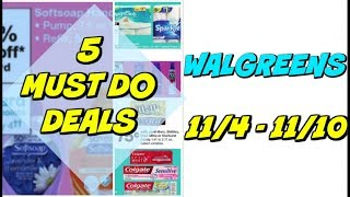 5 MUST DO WALGREENS DEALS 11/4 - 11/10 | Free Toothpaste, 49¢ Softsoap & more!