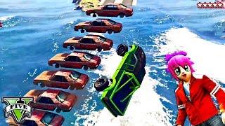 GTA 5 Princess Hike & THE SALTY BOTTOM RACE!! Frustratingly HARD Truck RACE!! GTA 5 Funny Moments