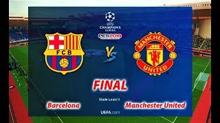 PES 2019 | UEFA Champions League Final | BARCELONA vs MANCHESTER UNITED | Gameplay PC