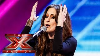 Raign sings her own song called Don't Let Me Go   Arena Auditions Wk 2   The X Factor UK 2014