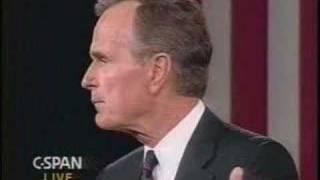 Clinton vs. Bush in 1992 Debate