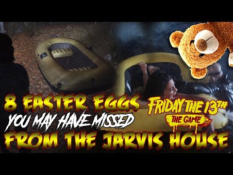 8 JARVIS HOUSE Easter Eggs You May Have Missed! | Friday the 13th: The Game