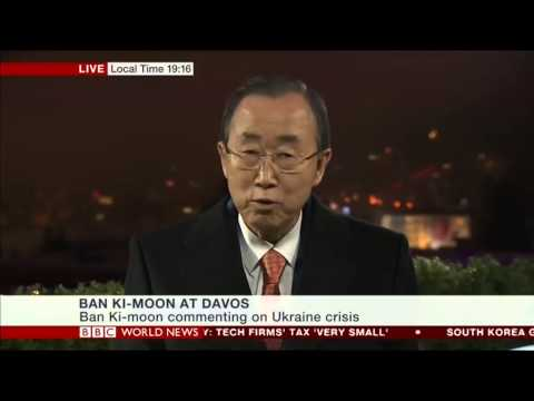 UN Secretary General Ban Ki Moon talks to Karin Giannone, BBC World News