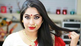 Durga Puja Navratri Makeup Tutorial 2016 | Festive Makeup Look