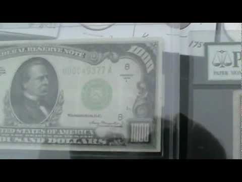 Gold Coins &  $1,000.00  &  $500.00 Dollar Bills   Flea Market Sales