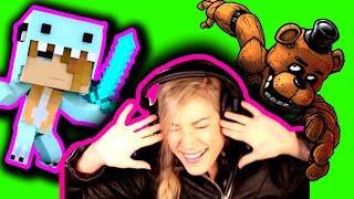 "★ PUNK ROCK PRINCESS   REACTION to PSYCHO SiS 2   Minecraft Psycho Girl Reaction ""I LOVE MY SWORD"""