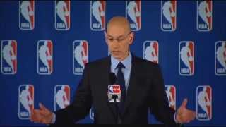 NBA commissioner Adam Silver on Clippers owner Donald Sterling  4/27/14  (Sports)