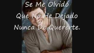 Watch Alejandro Sanz Se Me Olvido Todo Al Verte video