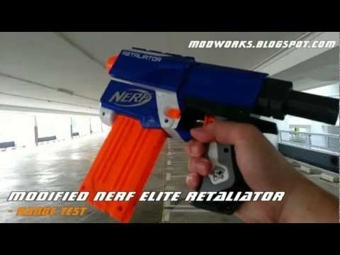 Modified Nerf Elite Retaliator - Range Test