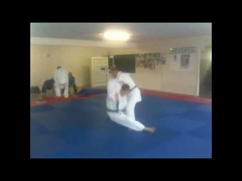 KATA GURUMA now YOKO OTOSHI ..... JUDO THROW Shoulder Roll Image 1