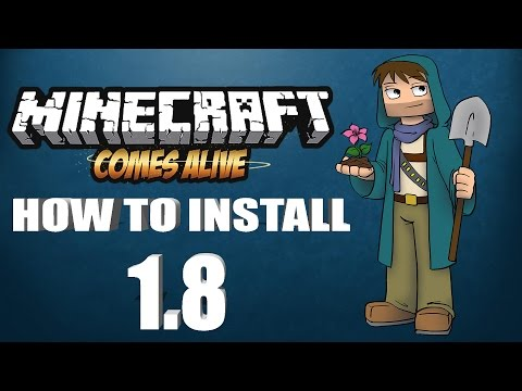 ★ How To Install MINECRAFT COMES ALIVE mod for Minecraft 1.8