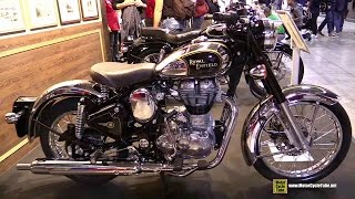 2015 Royal Enfield Classic 500 Chrome - Walkaround - 2014 EICMA Milan Motorcycle Exhibition