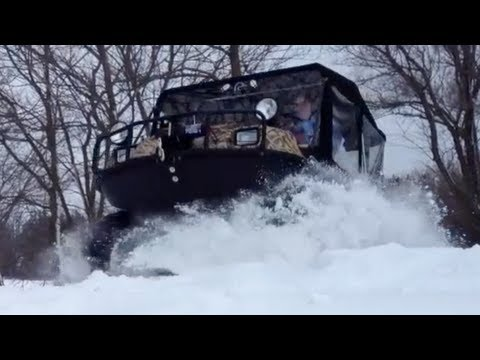✇ ATV In Snow - Grizzly 4x4 vs Argo UTV 6x6 - Dumb Fun
