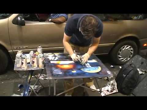 Street Art Graffiti Spray can artist - YouTube