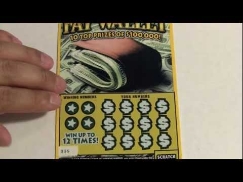 $5 Fat Wallet + Bonus Tickets Instant Scratch off Lottery Tickets PA