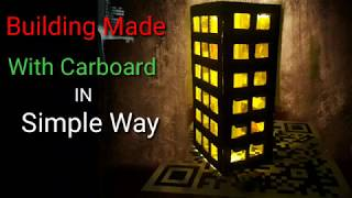 diy- how to make building with cardboard simple project for kids by Gimmi Gimmu