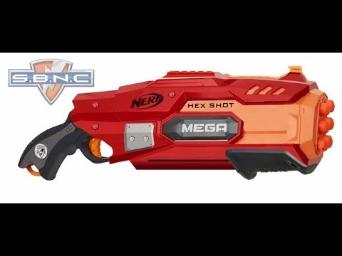 NERF N STRIKE ELITE MEGA SERIES SUMMER 2014.HEXSHOT,ONSLAUGHT!!! - YouTube
