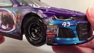 "Review: 2018 Darrell ""Bubba"" Wallace Jr #43 Click n Close Daytona 500 Raced Chevy 1/24 NASCAR"