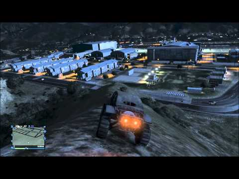 GTA 5 Online Funny Moments - Epic Titian Fail, Trying to steal a jet, tractor fail!
