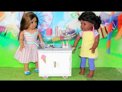 American Girl Doll Ice Cream Cart Playset Review