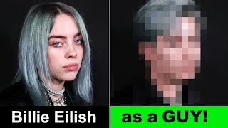 Billie Eilish - If Billie Eilish was a guy! | Transforming Billie Eilish | Alice Edit!