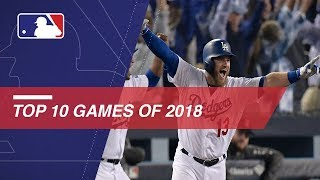 MLB's top 10 games of the 2018 season