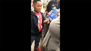 kid tries to steal from Walmart but gets caught...