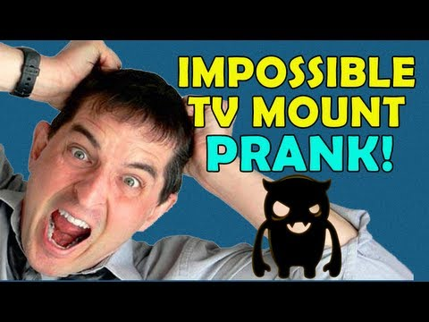 Impossible TV Mount Prank (ft. Billy) - Ownage Pranks
